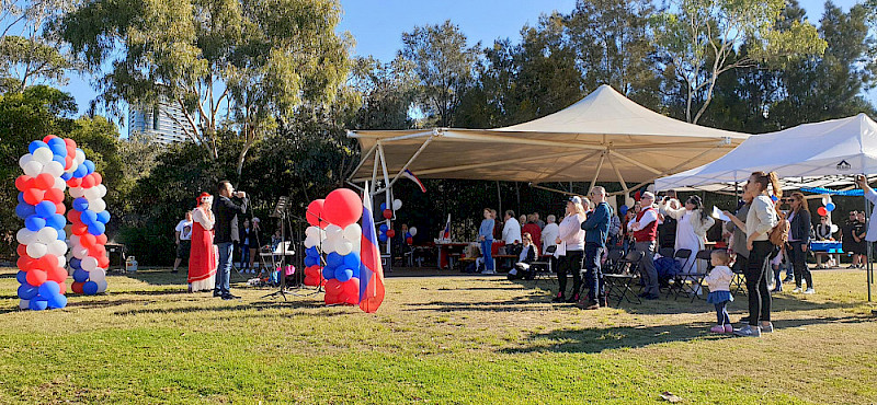 Picnic on the Day of Russia in Sydney