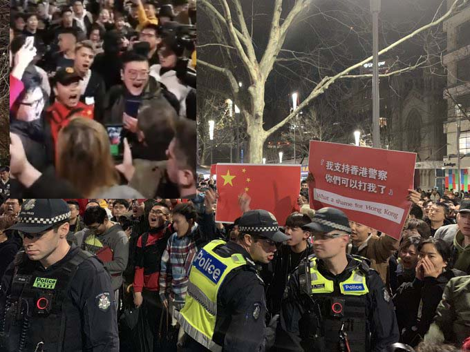 Hong Kong protests spill onto Australian city streets