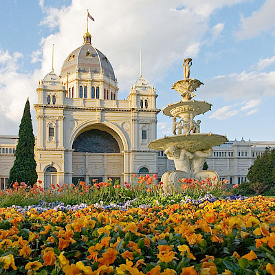 Royal Exhibition Hall or the future landmark of the city of Melbourne