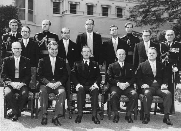 Вручение грамот послом России В.А.Логиновым 1963 г