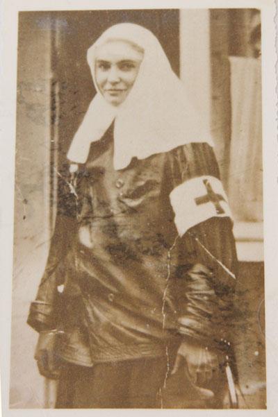 Княгиня Е. В. Туровская — сестра милосердия на Первой мировой войне, 1914 г