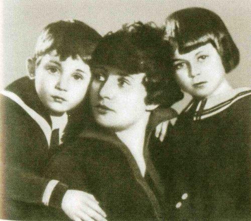З.Райх с дочерью Татьяной и сыном Константином
