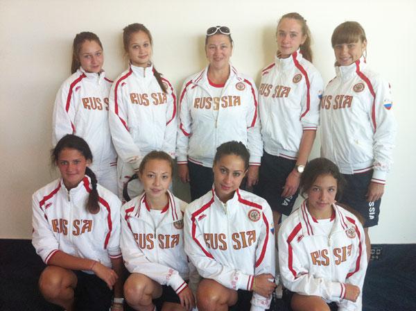 Группа российских спортсменок в Квинсленде