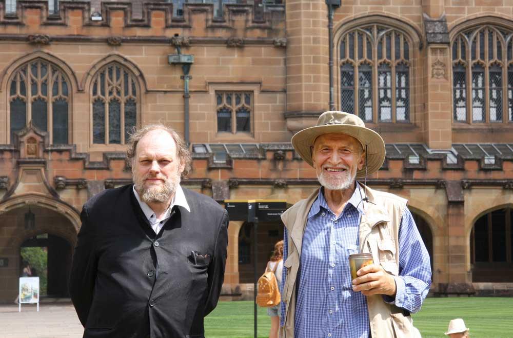 Н.Дроздов и Д.Вонсбро в Сиднейском университете